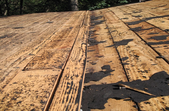 Roof Leak At Pitch Change Lyons Roofing